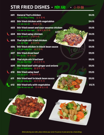 Page 10 - Stir Fried Dishes